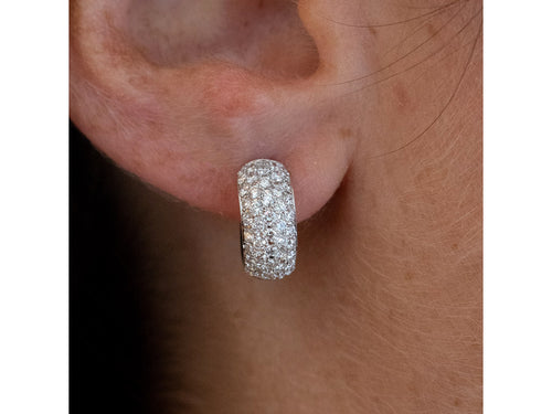 Pavé Diamond Huggie Earrings at the Best Jewelry Store in Washington DC