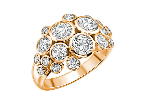 18K Yellow Gold, Oxidized Sterling Silver and Diamond Ring