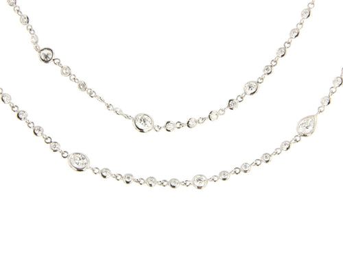Long Diamond Necklace in Washington DC at the Best Jewelry Store in Washington DC