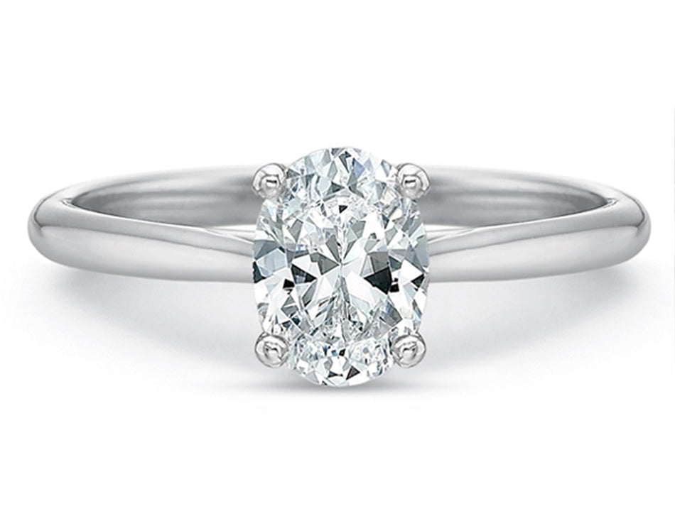 Platinum and Oval Diamond Solitaire Engagement Ring in Washington DC