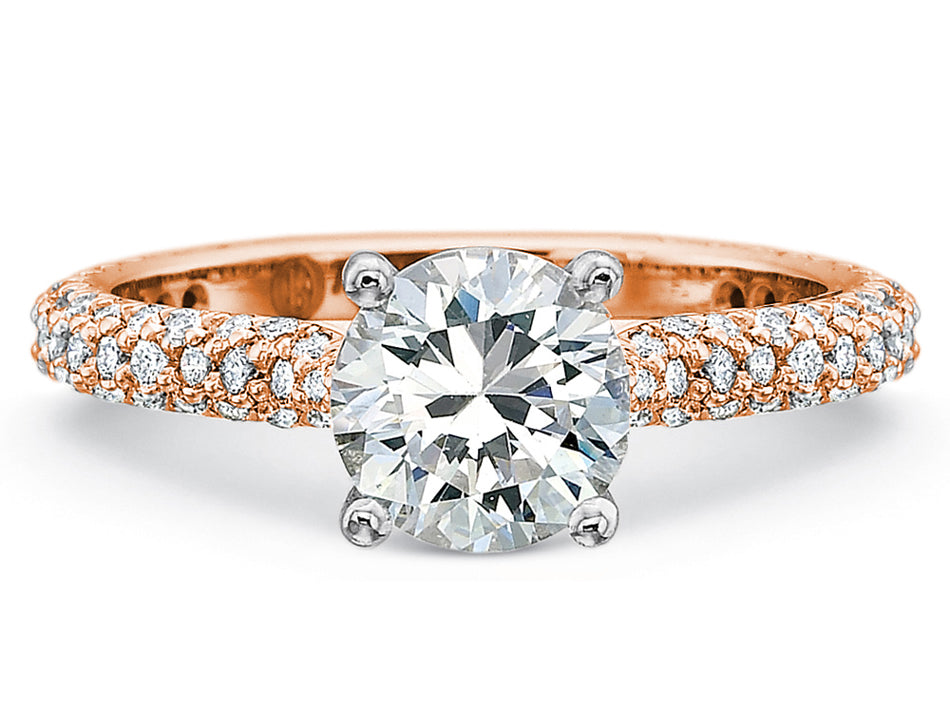 Rose Gold, Platinum and Round Diamond Solitaire Engagement Ring in Washington DC