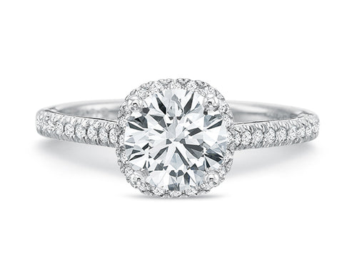 Platinum Halo Diamond Engagement Ring at the Best Jewelry Store in Washington DC