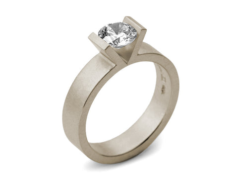 Platinum and Diamond Solitaire Engagement Ring