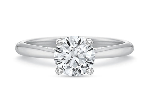 "18K White Gold and Diamond ""Celeste"" Engagement Ring"