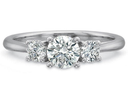 "Platinum and ""Hearts and Arrows"" Diamond Engagement Ring"