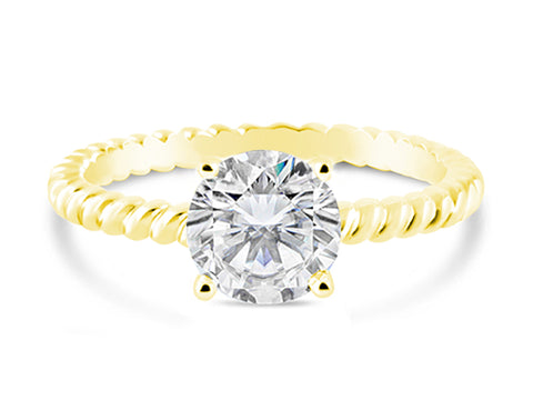 18K White Gold and Brilliant Diamond Engagement Ring