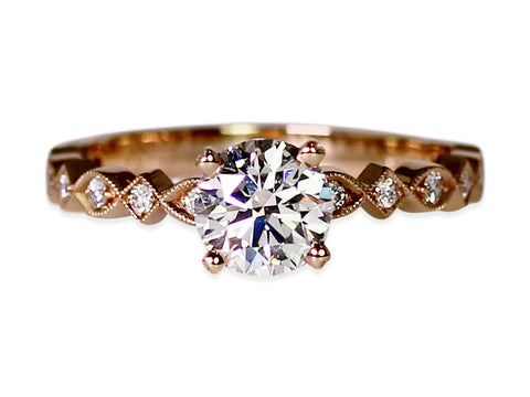"18K Yellow Gold and Diamond ""Evergreen"" 3-Stone Engagement Ring"