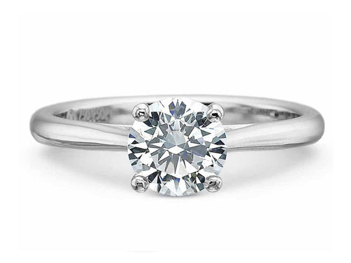 Platinum Diamond Solitaire Engagement Ring at the Best Jewelry Store in Washington DC