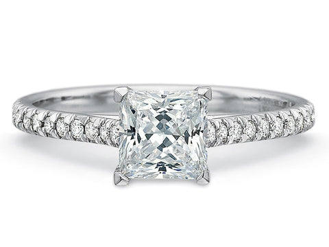 Palladium and Diamond Engagement Ring