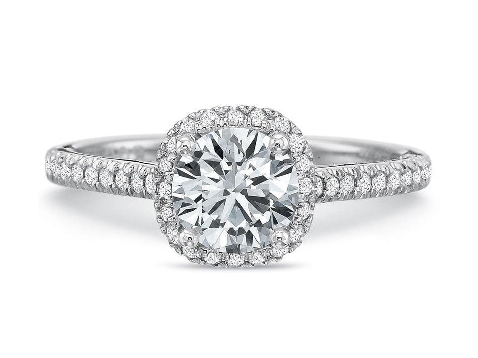 White Gold Halo Diamond Engagement Ring at the Best Jewelry Store in Washington DC