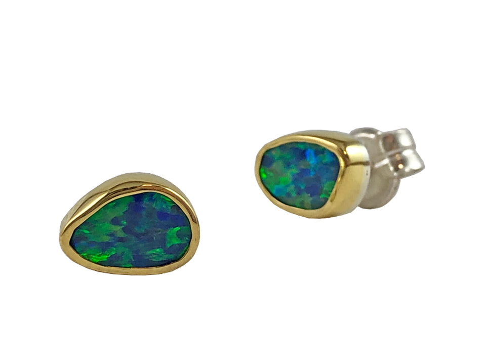 Opal Doublet Stud Earrings