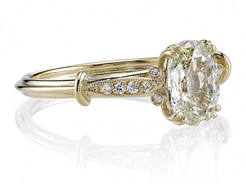 "Single Stone 18K Yellow Gold and Diamond ""Sophia"" Engagement Ring in Washington DC"