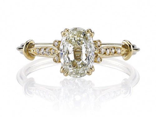 "18K Yellow Gold and Diamond ""Sophia"" Engagement Ring"
