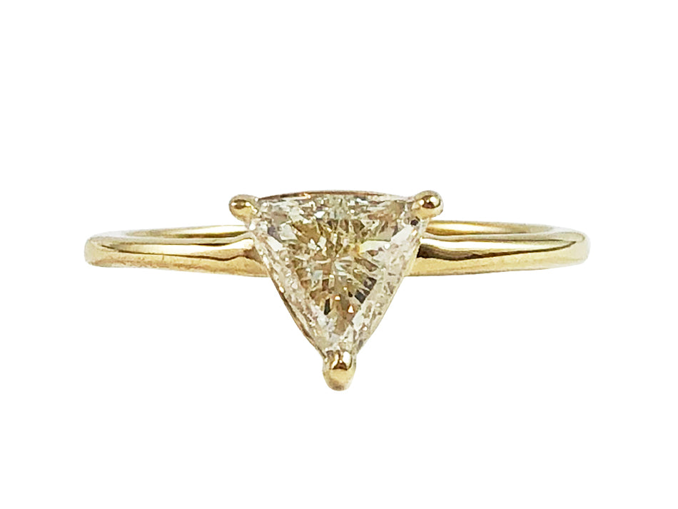 14K Yellow Gold and Diamond Engagement Ring