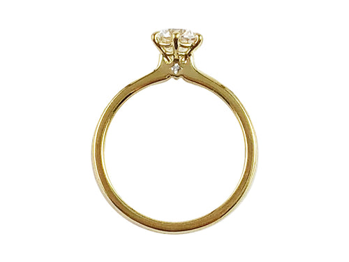 Simple 18K Yellow Gold and Diamond Solitaire Engagement Ring in Washington DC