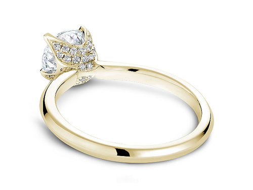 Simple Yellow Gold and Diamond Solitaire Engagement Ring in Washington DC