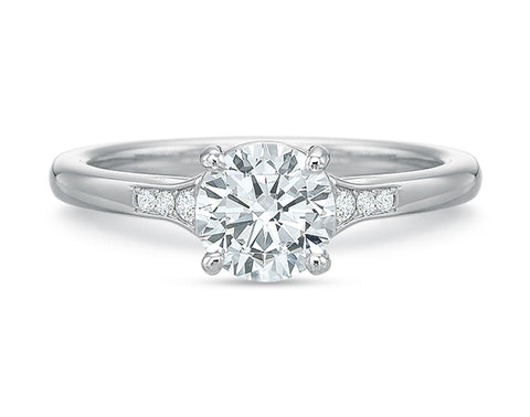 Palladium and Diamond Solitaire Engagement Ring