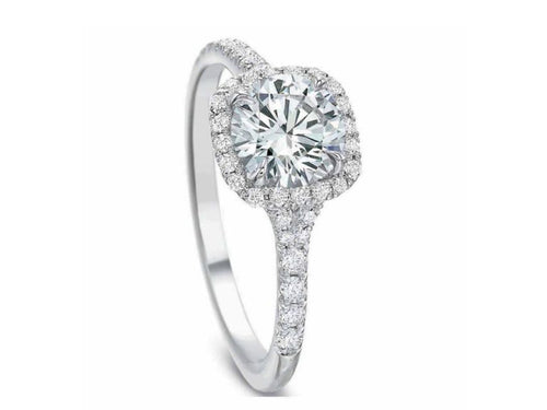 White Gold and Halo Diamond Engagement Ring at the Best Jewelry Store in Washington DC