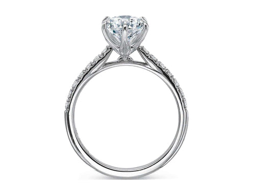 White Gold Solitaire Diamond Engagement Ring in Washington DC