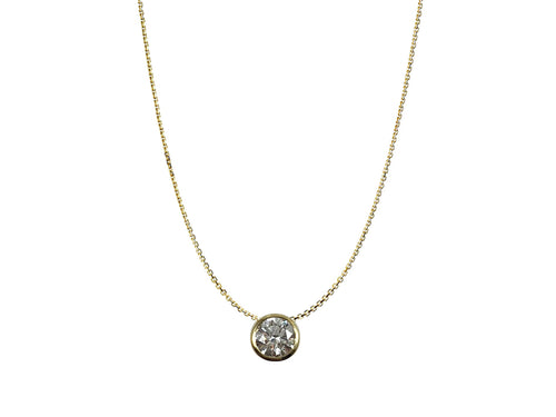 18K Yellow Gold and Bezel Diamond Necklace in Washington DC