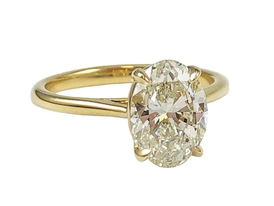 Precision Set Oval Diamond Ring at the Best Jewelry Store in Washington DC