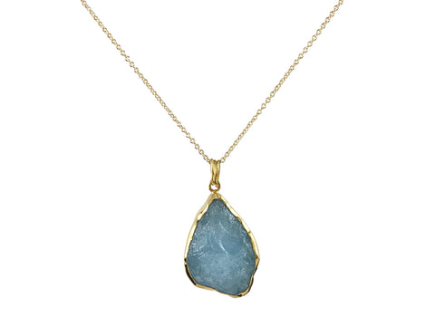 Aquamarine and London Blue Topaz Pendant Necklace