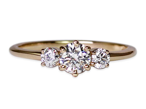 18K Rose Gold, Platinum and Round Diamond Solitaire Engagement Ring