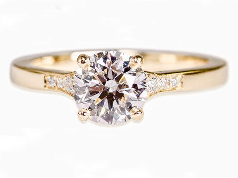 Three-Stone Diamond Engagement Ring