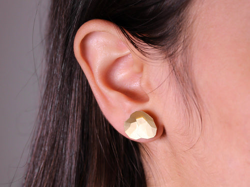 "18K Yellow Gold ""Topia"" Stud Earrings"
