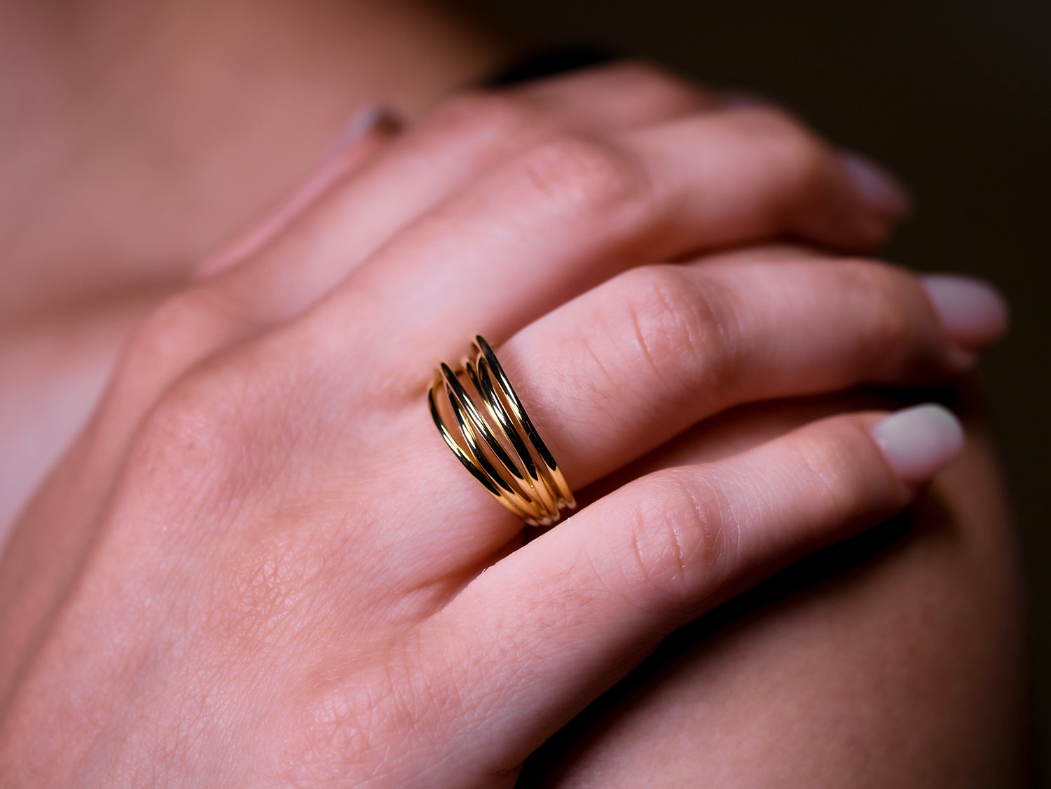 18K Yellow Gold Twist Ring