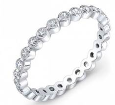 18K White Gold and Diamond Eternity Wedding Band