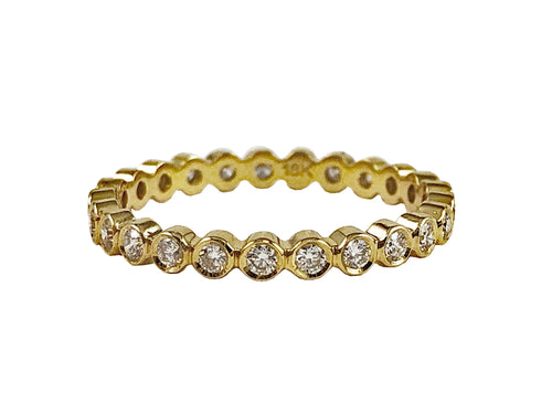 18K Yellow Gold and Diamond Eternity Wedding Band in Washington DC