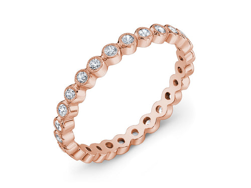 Rose Gold and Diamond Eternity Wedding Band in Washington DC