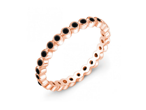 Rose Gold and Black Diamond Wedding Band in washington dc