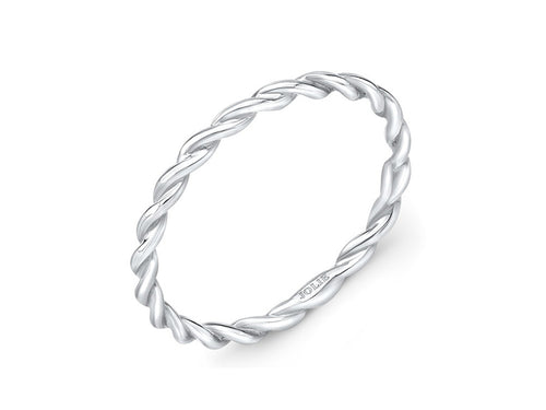Rope Style White Gold Wedding Band in Washington DC
