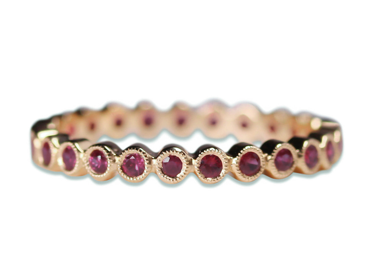 Ruby Eternity Wedding Band