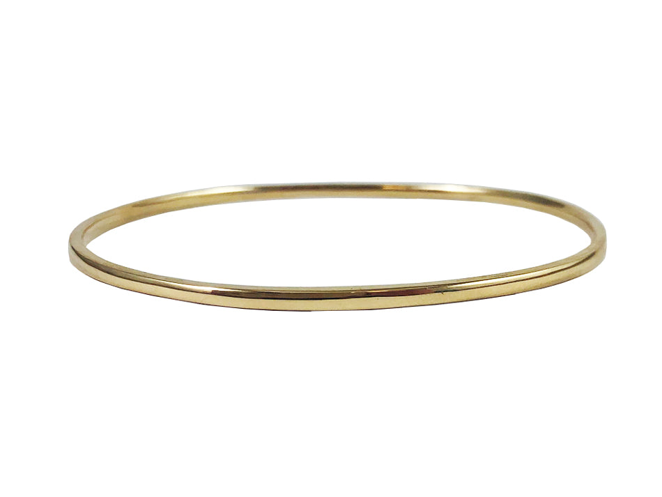 "14K Yellow Gold Bangle ""Stackable"" Bracelet"