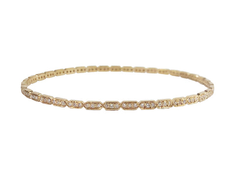 Champagne Diamond Cuff in Grey Gold