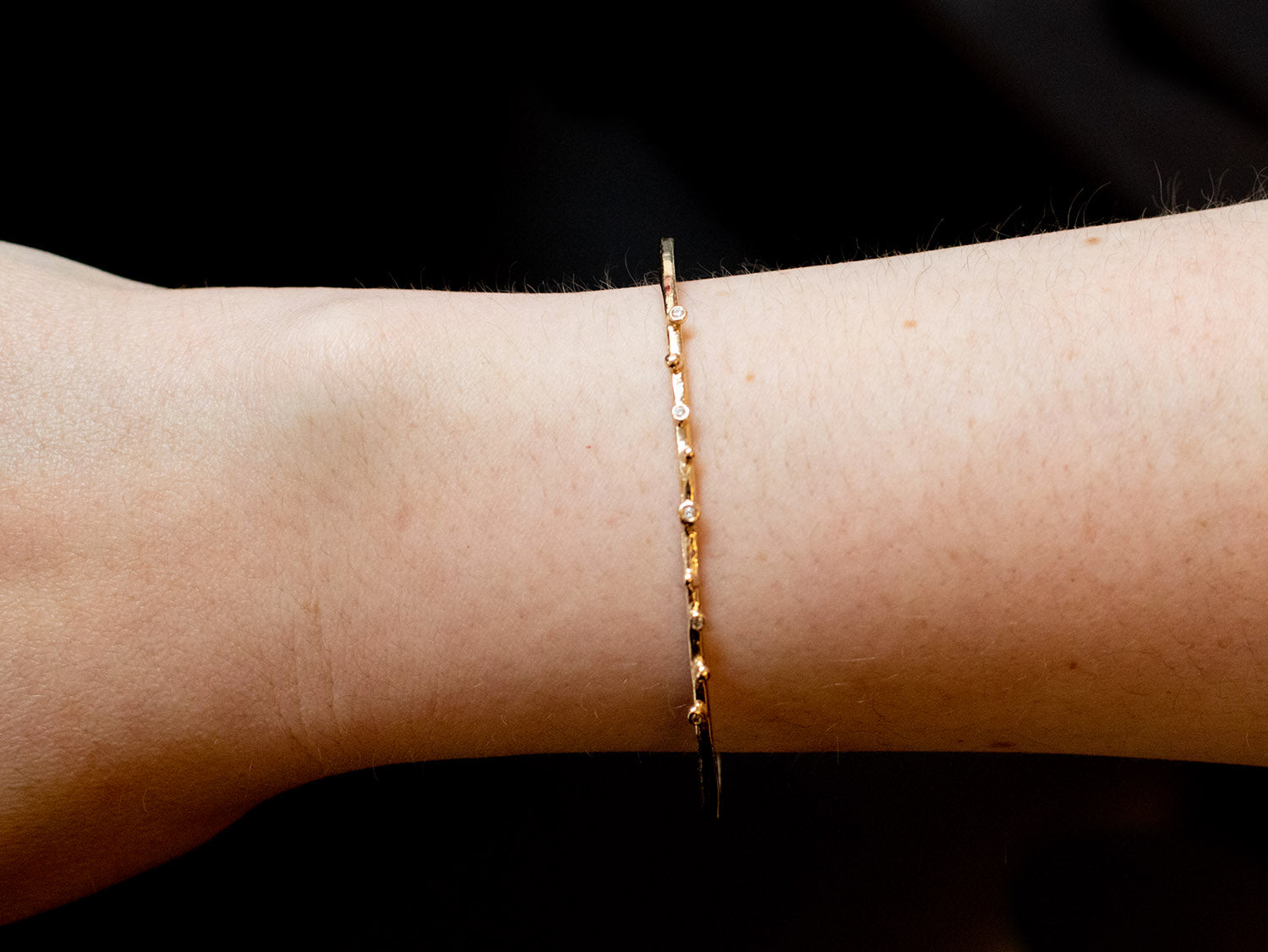 "14K Yellow Gold and Diamond Bangle ""Stackable"" Bracelet in Washington DC"