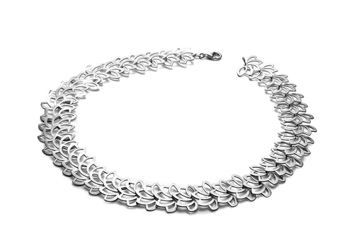 "Sterling Silver ""Lotus"" Necklace"