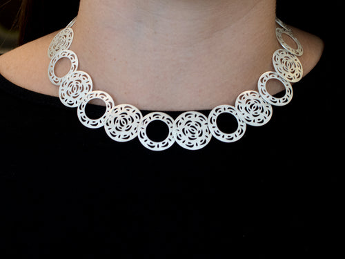 "Sterling Silver ""Mandala"" Necklace"