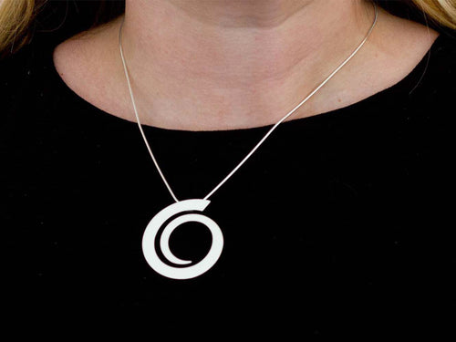 "Sterling Silver ""Reiki"" Necklace"