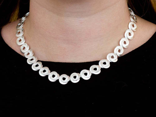 "Sterling Silver ""Knotted"" Necklace"