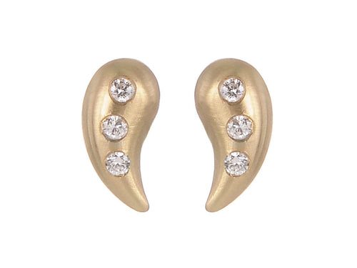 Unique Gold Diamond Studs
