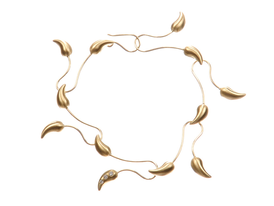 "18K Yellow Gold and Diamond ""Chili"" Bracelet"
