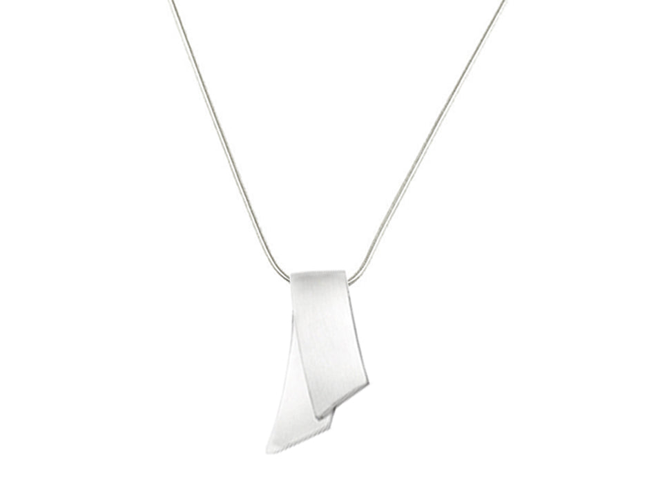 "Sterling Silver ""Ribbon"" Necklace"