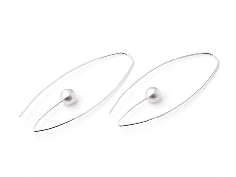 "Sterling Silver ""Half Circle"" Earrings"