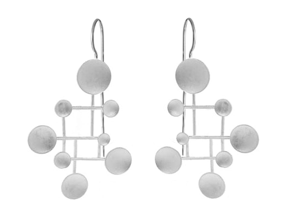 "Sterling Silver ""Calder"" Earrings"
