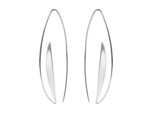 "Silver ""Half Moon"" Earrings"
