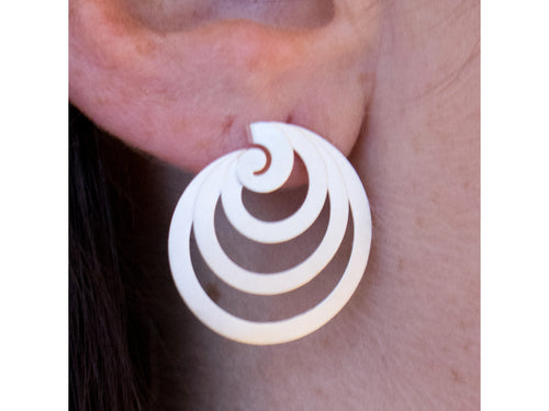 "Sterling Silver ""Choku Rei"" Earrings"